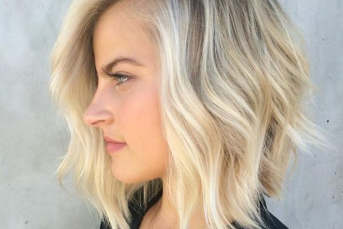 tousled angle bob for thin hair