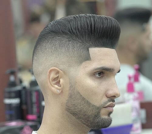 transitional fade cut for men