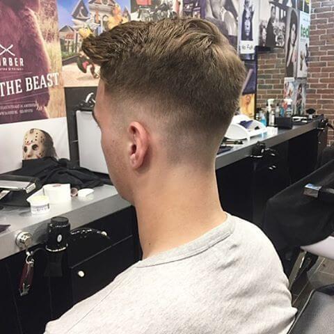 trendy fade haircut for men