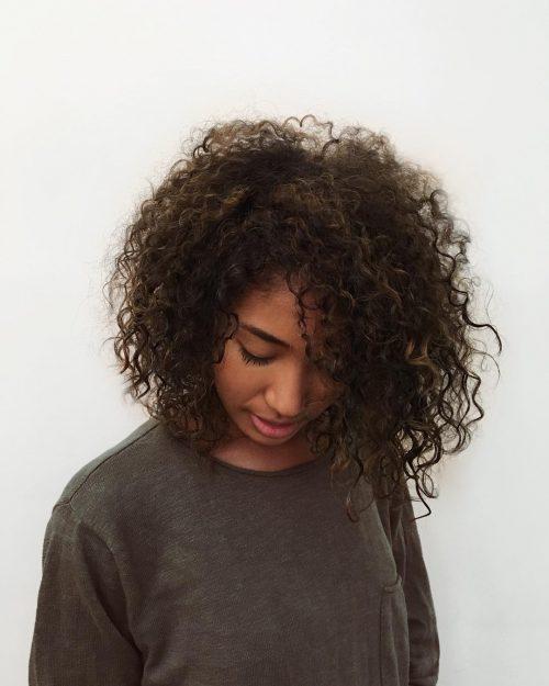 Trendy Medium Length Curls