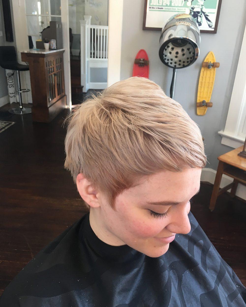 Trendy Pixie hairstyle