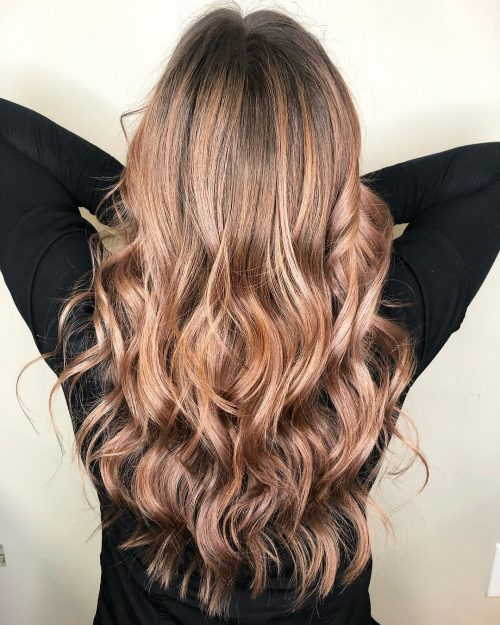 c0be4f33828e4 22 Rose Gold Hair Color Designs to Copy in 2018 Hair in 2019
