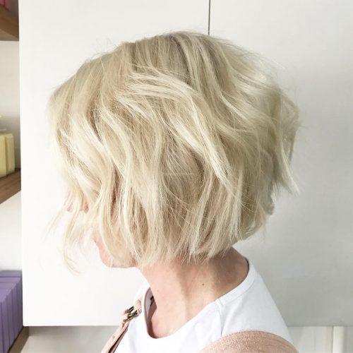 Light Blonde Blunt Shag Cut