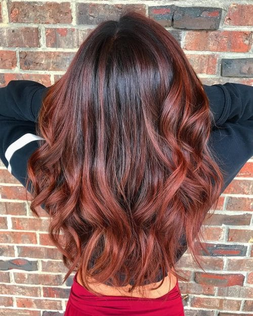 Balayage Brown To Red Www Pixshark Com Images