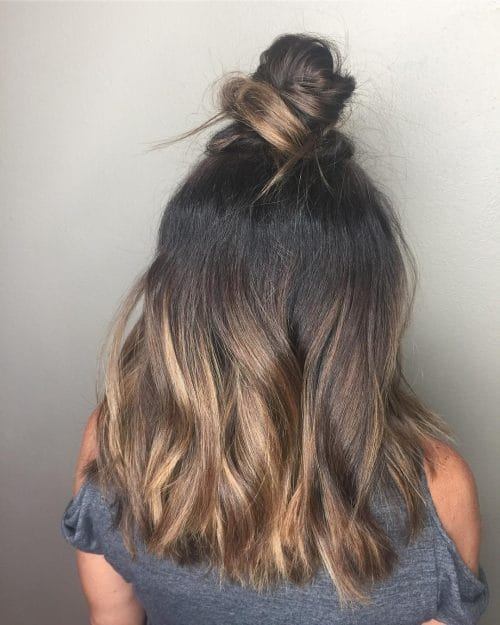 Trendy Topknot hairstyle