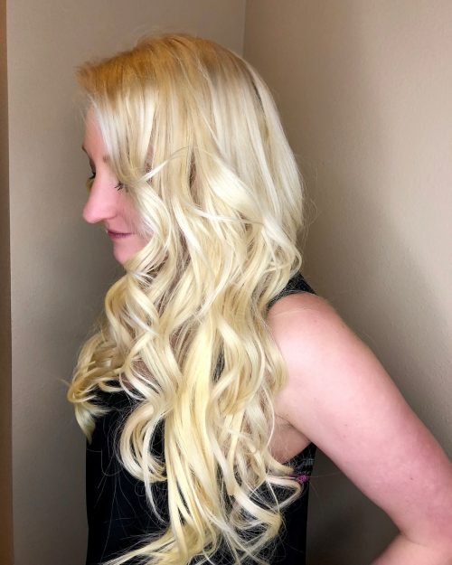 Picture of tumbling curls a simple hairstyle