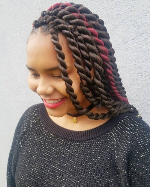 Twisted Ghana braids