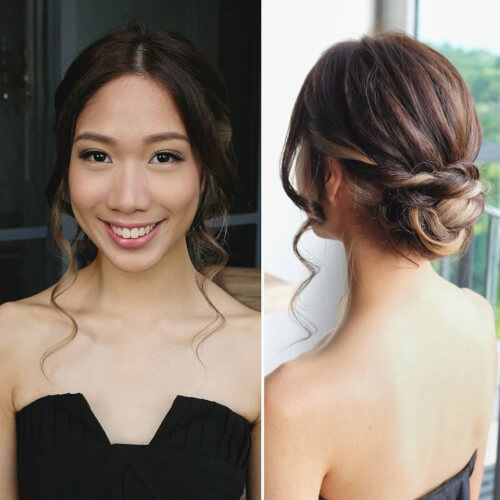 Twisted chignon hairstyle updo
