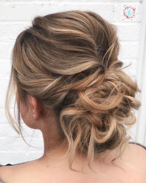 Picture of twisted messy updo