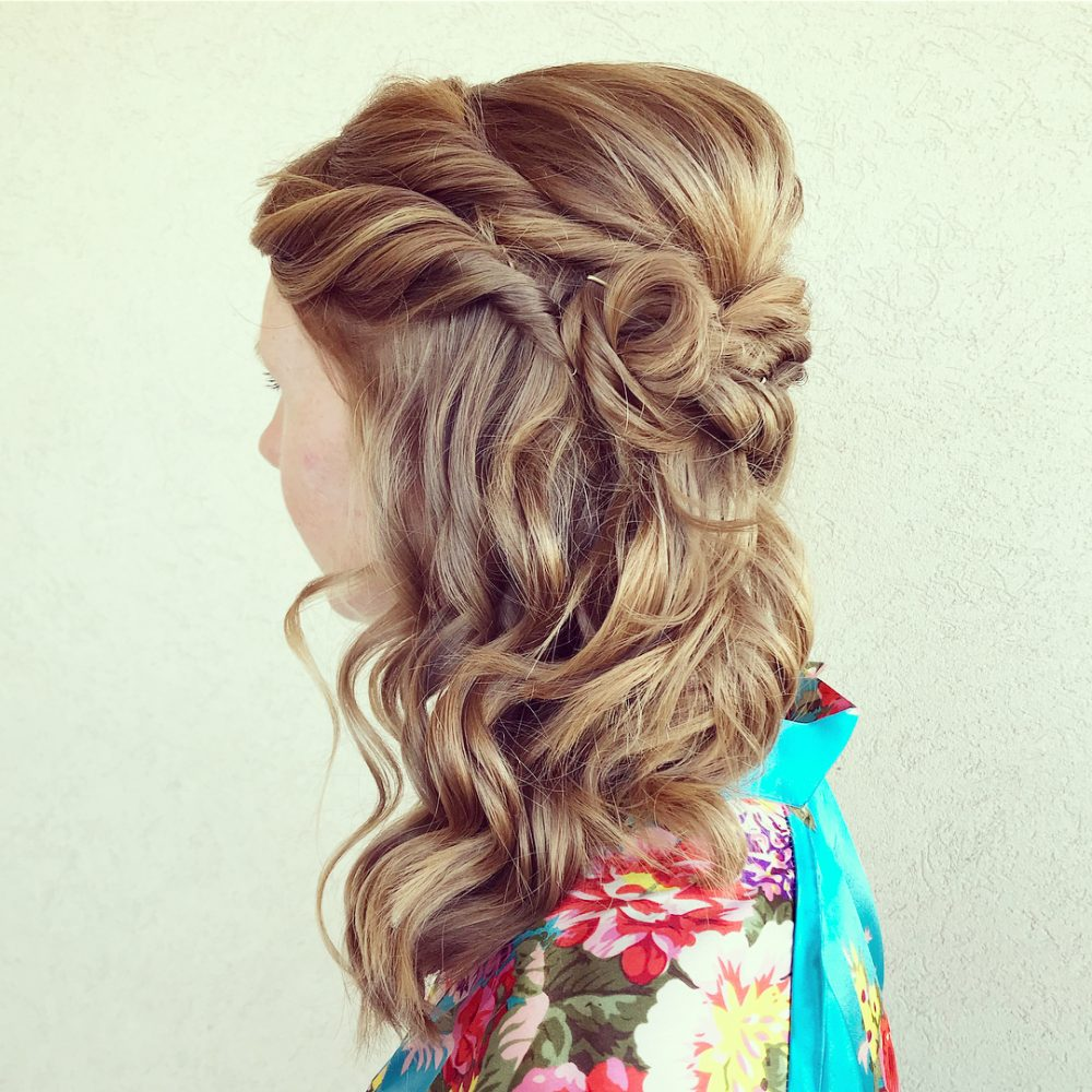 Twisted Side-Swept Style hairstyle