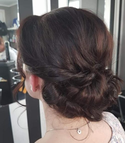 Picture of a twisted simple updo