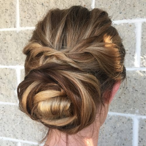 Twisted & Wrapped hairstyle