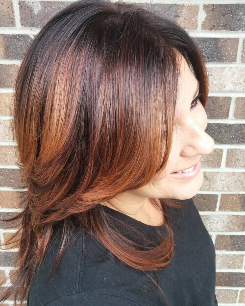 two tone auburn hair color