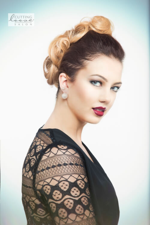 two-toned-color-pin-up-hairstyle
