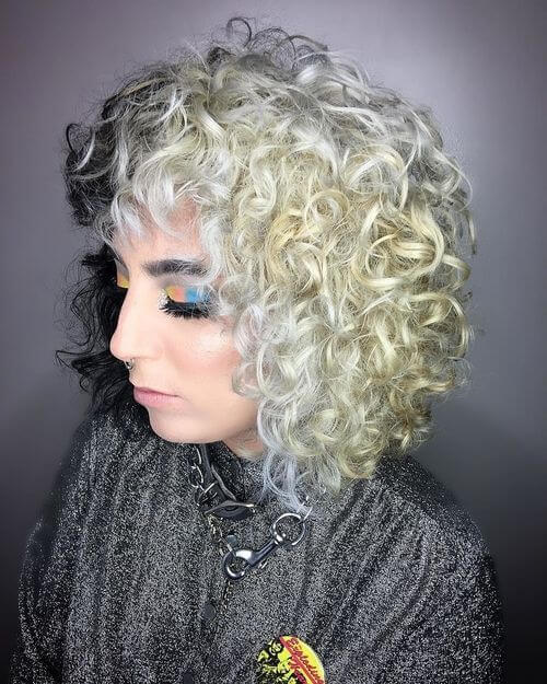 two toned curly hair