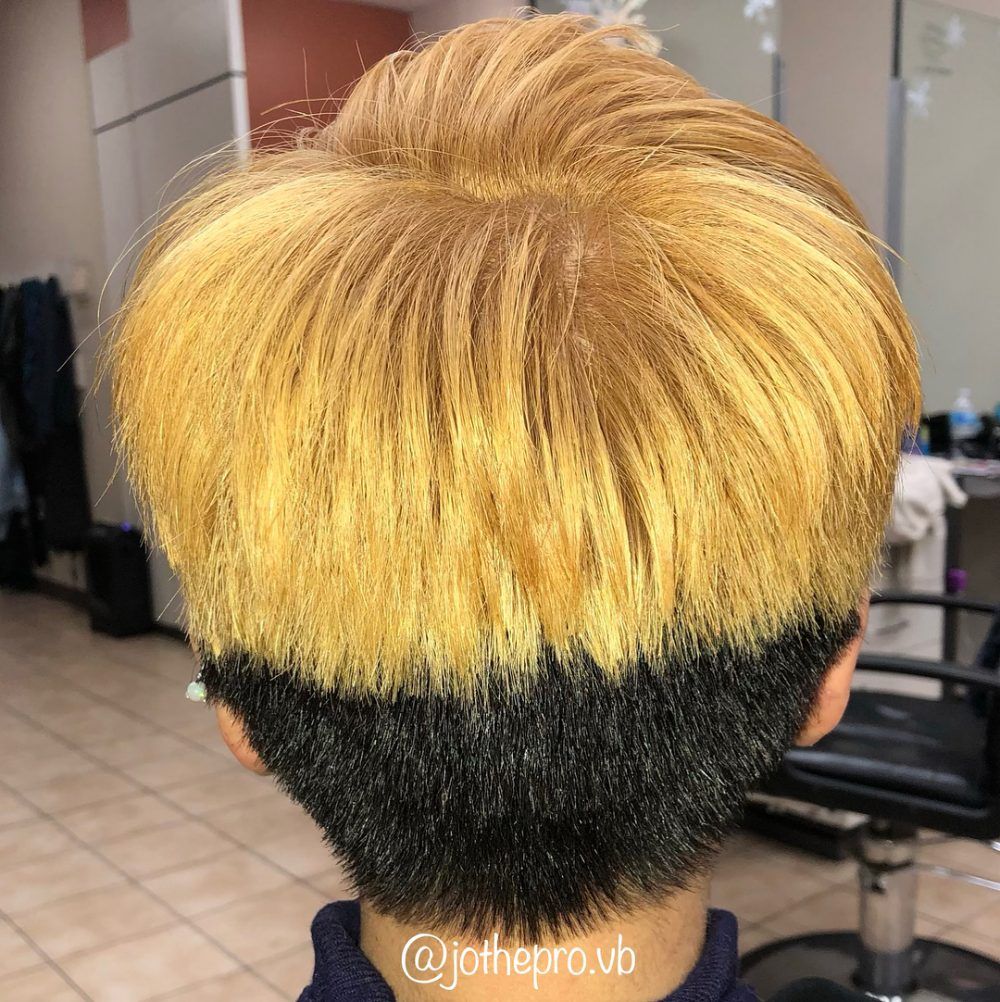 Two-Toned Edgy Pixie hairstyle