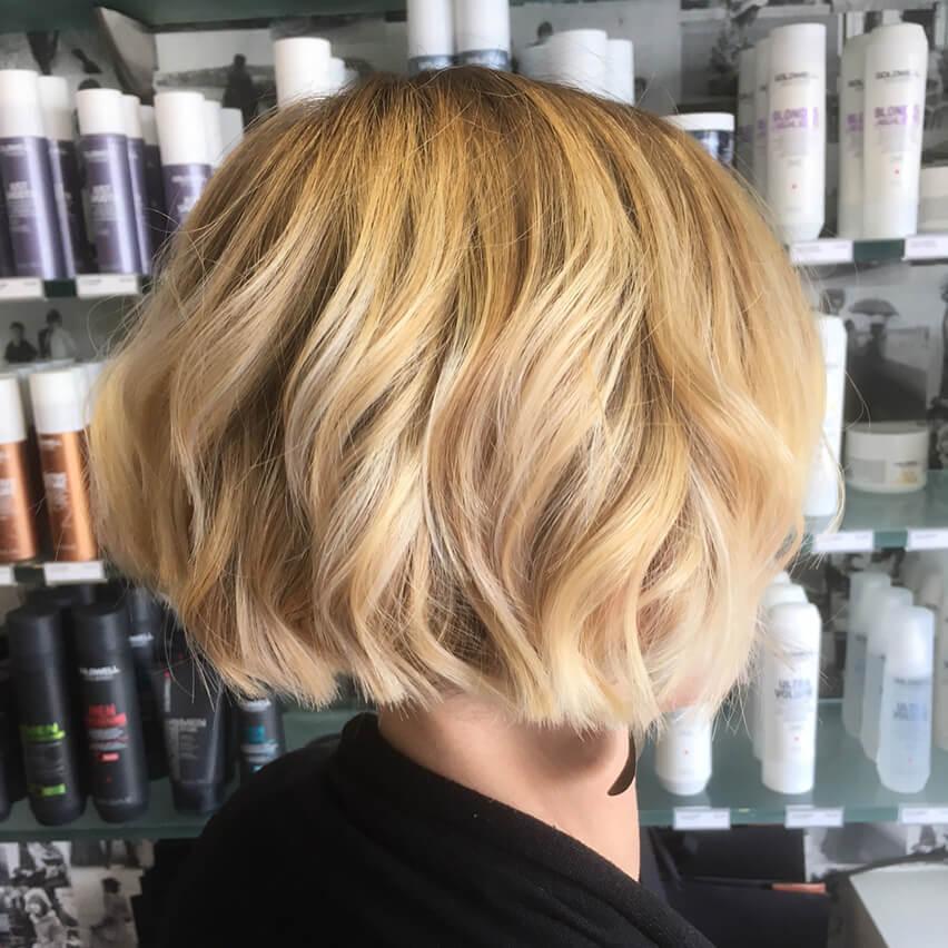 Balayaged Undercut hairstyle