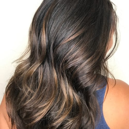 29 incredible dark brown hair with highlights trending for 2018 understated elegance hairstyle pmusecretfo Gallery