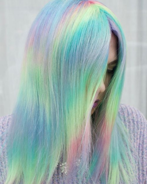 Aunicorn ombre hair color
