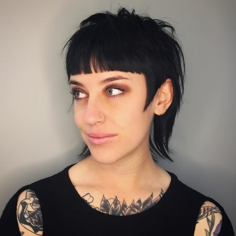 Unique Modern Mullet hairstyle