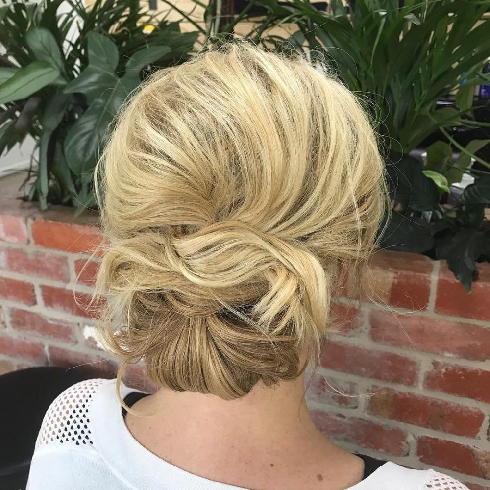 Unstructured Messy Chignon hairstyle