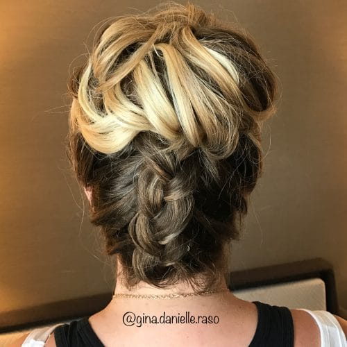 Upside Down Dutch Braid hairstyle