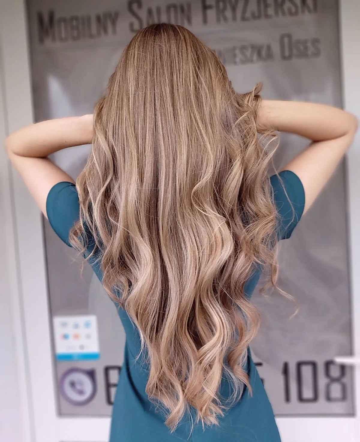 v-cut for super long hair