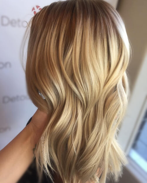 Picture of blonde hair with highlights