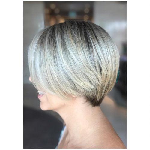 Versatile Blonde and grey pixie