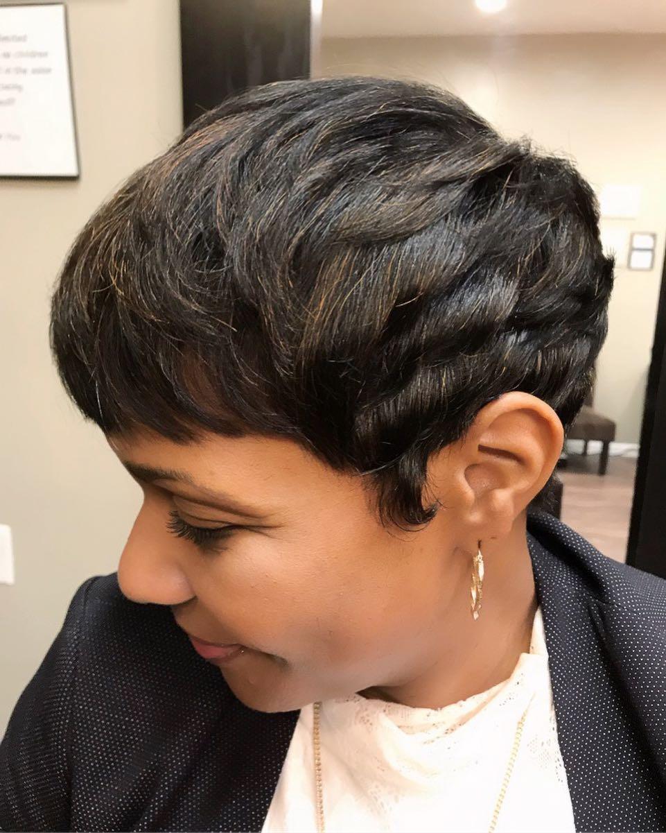 Versatile Layered Pixie hairstyle