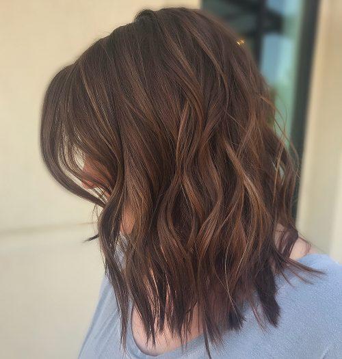 Auburn Highlights On Dark Brown Hair