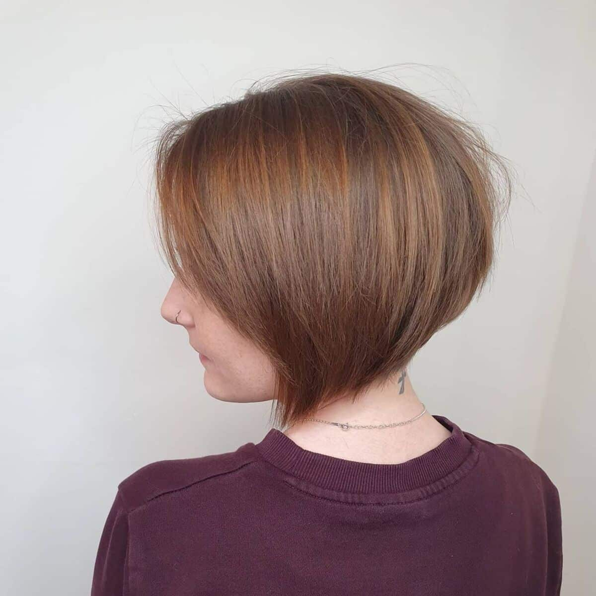 corte de pelo bob muy corto graduado