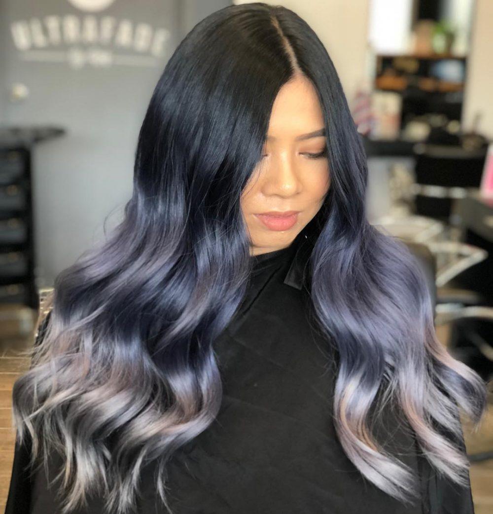 Vibrant Metallic Blue hairstyle