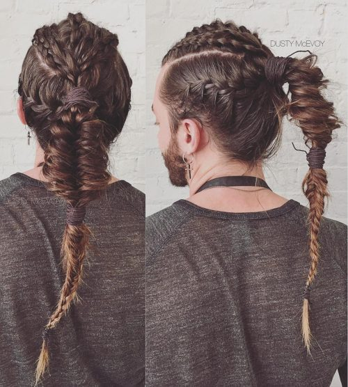 Viking braids for men