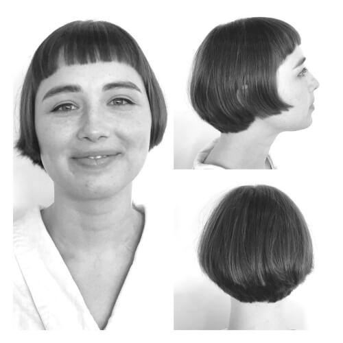 A Great Example For Vintage Short Bob Haircuts With Bangs