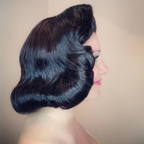 Picture of a vintage inspired faux bob a vintage hairstyle