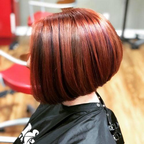 Violet auburn hair color