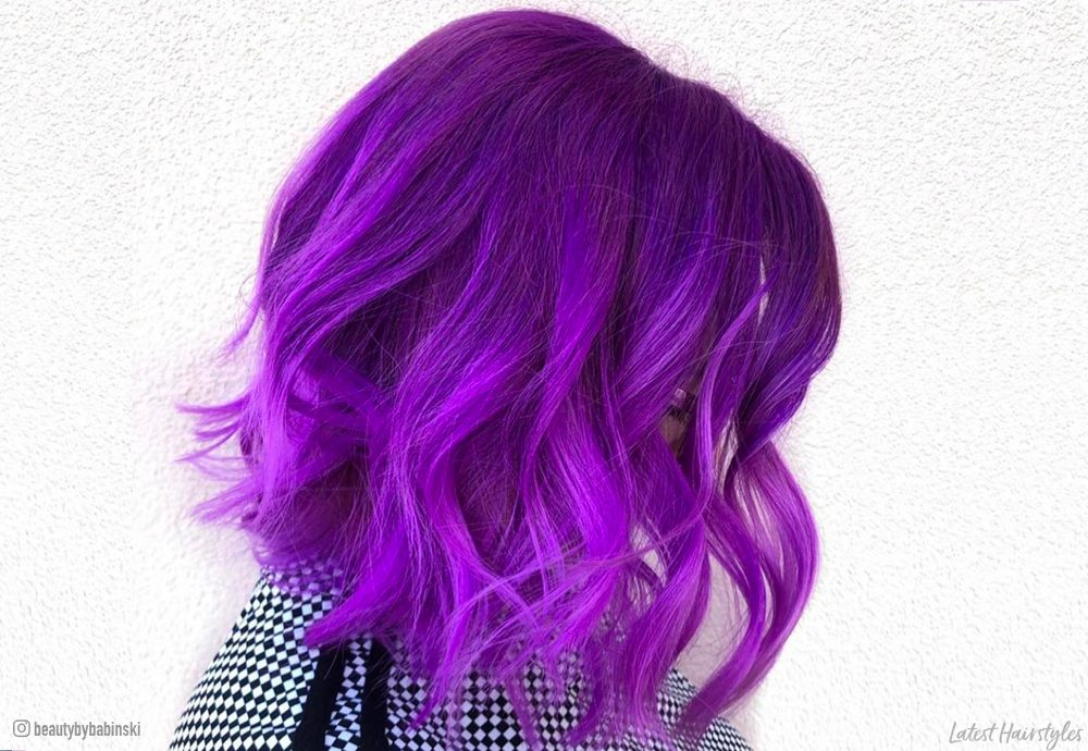 18 Incredible Violet Hair Colors To Inspire You In 2020,Styles Of Kitchen Cabinet Doors