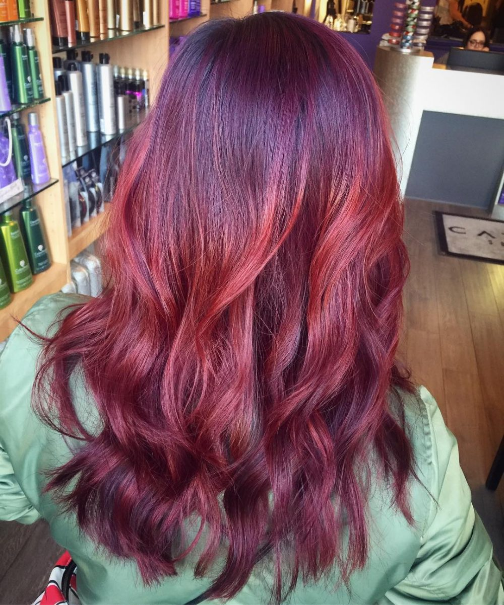 Violet Ombre hairstyle