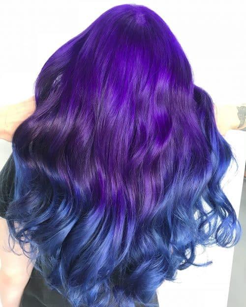 Violet to Dark Blue