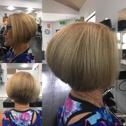A short inverted bob for women over 50