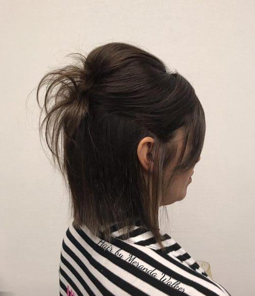 Voluminous Half Updo hairstyle