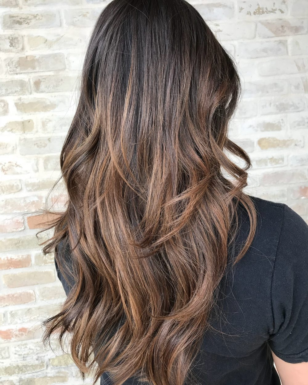 Warm Balayage Waves hairstyle