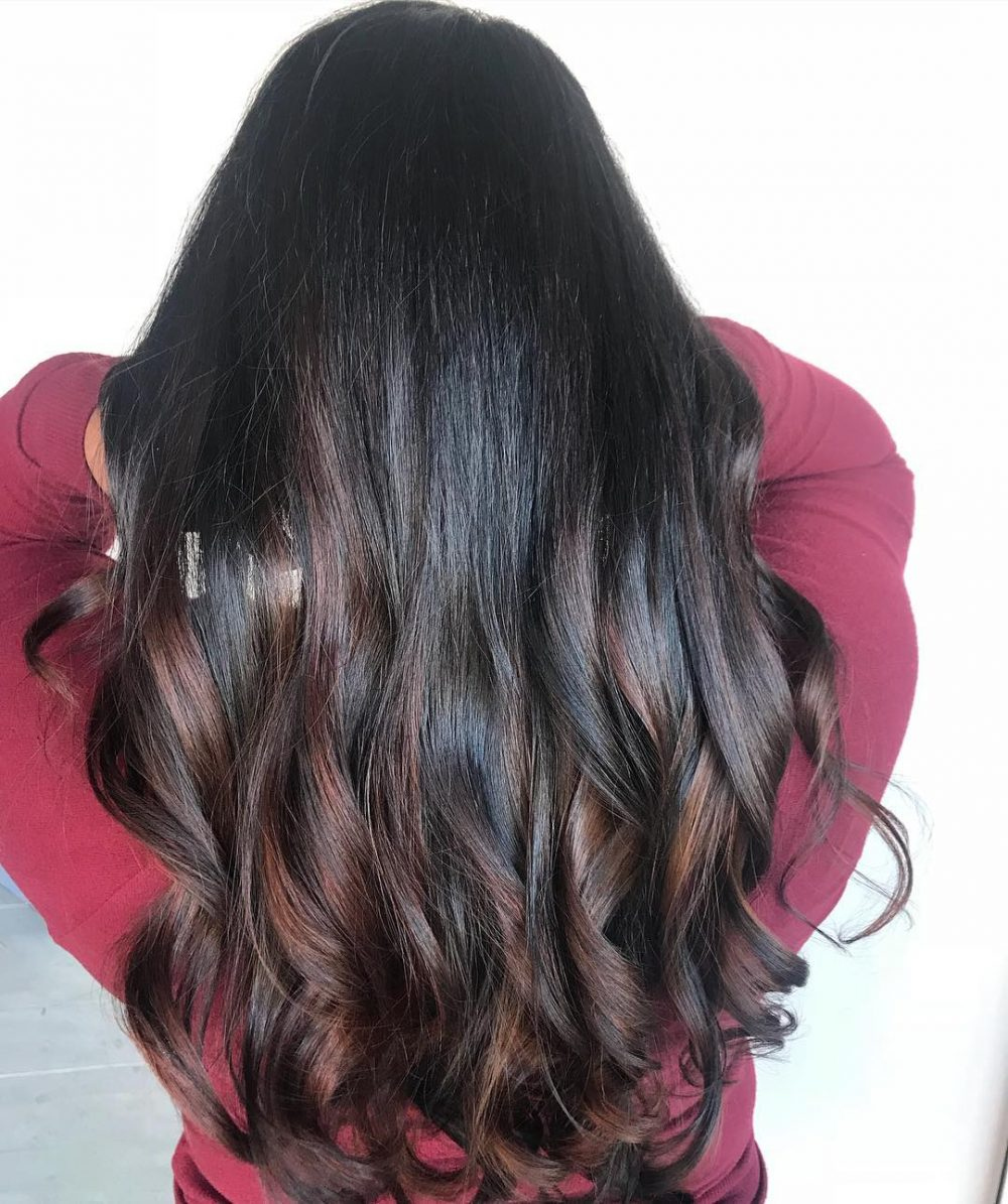 Warm Brunette Balayage hairstyle