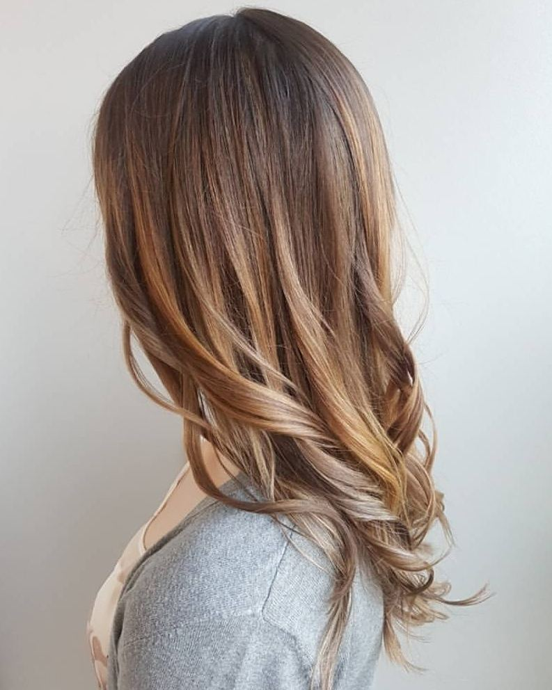 26 sweetest brown hair with caramel highlights in 2018 warm foilayage hairstyle pmusecretfo Gallery