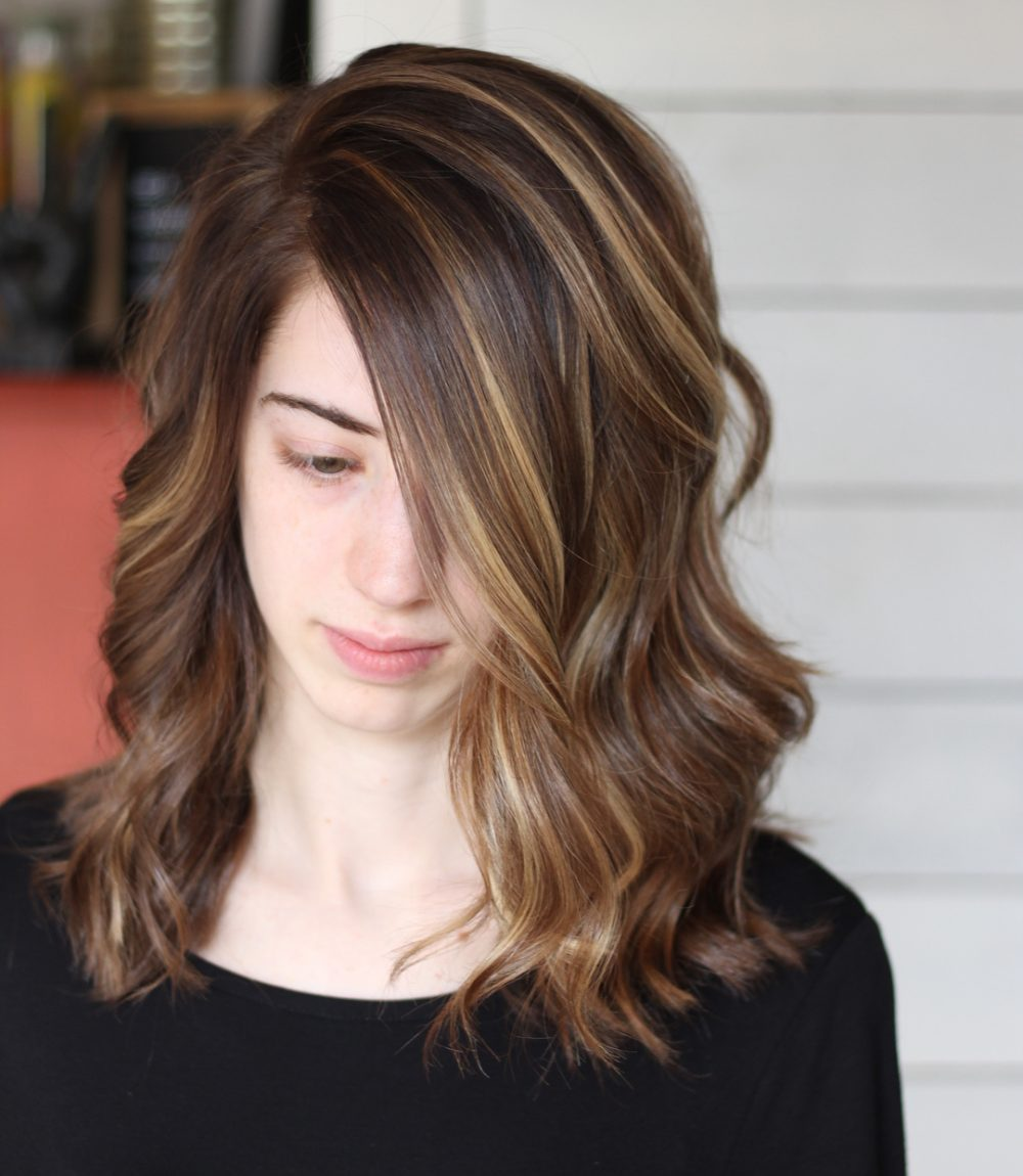 Warm Honey Balayage hairstyle
