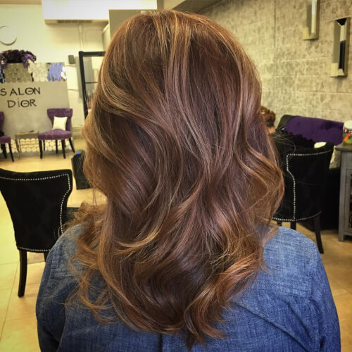 warm and natural auburn hair color