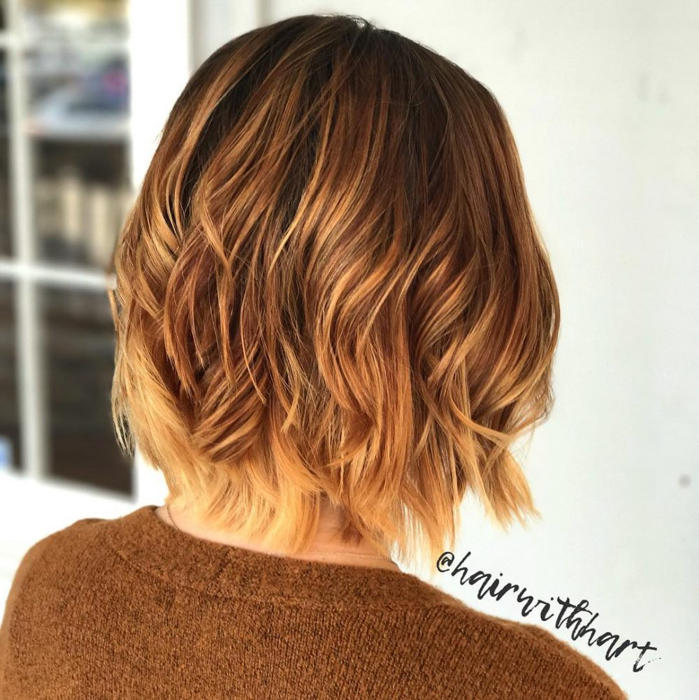 how to style ombre hair 35 dazzling ombre hair color ideas for 2018 2126 | warm toned ombre short ombre hair 1000x1001