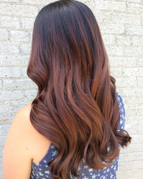 warm tones auburn hair color