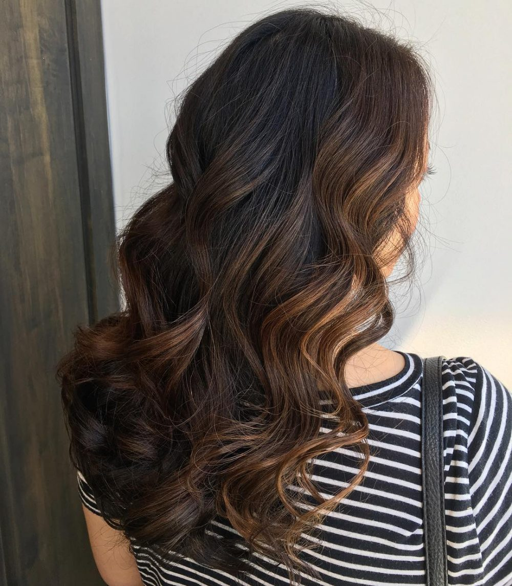Warm Balayage hairstyle
